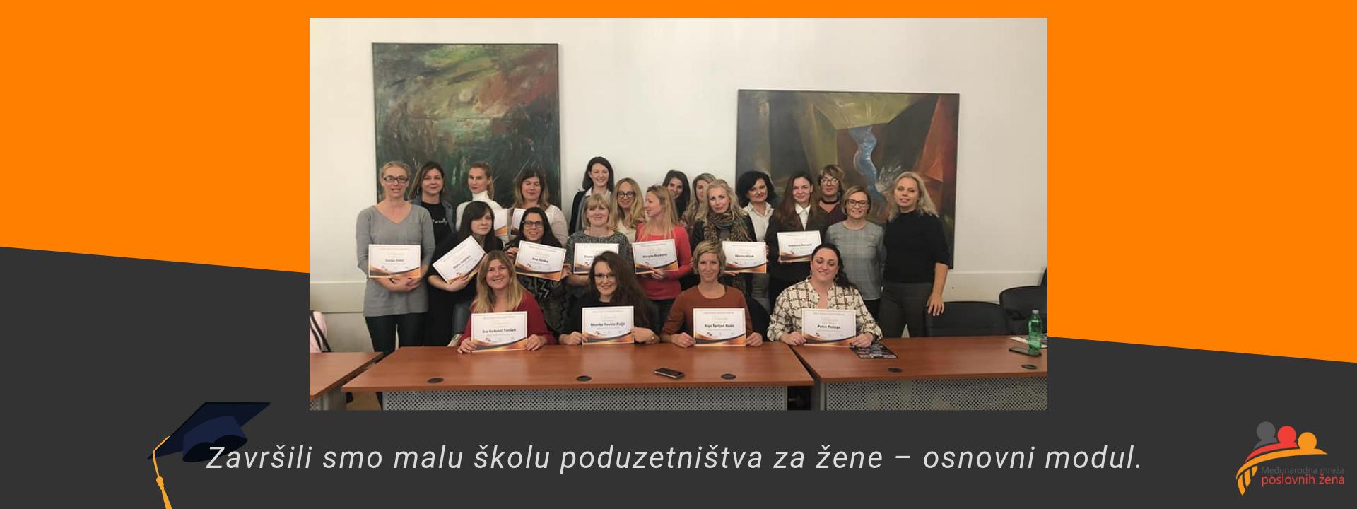 Završen osnovni modul - Mala škola poduzetništva za žene