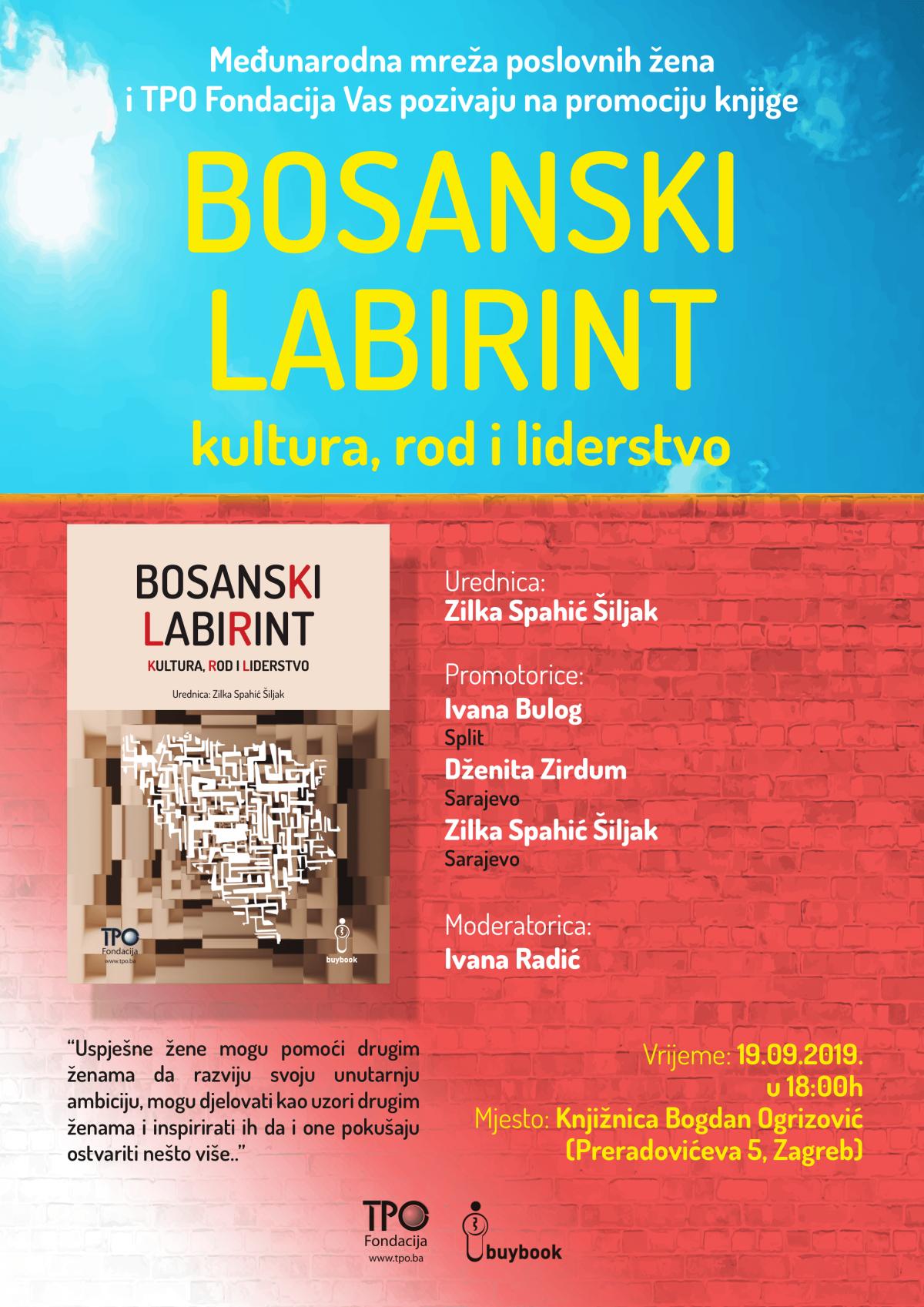 Bosanski labirint plakat A3 Zagreb