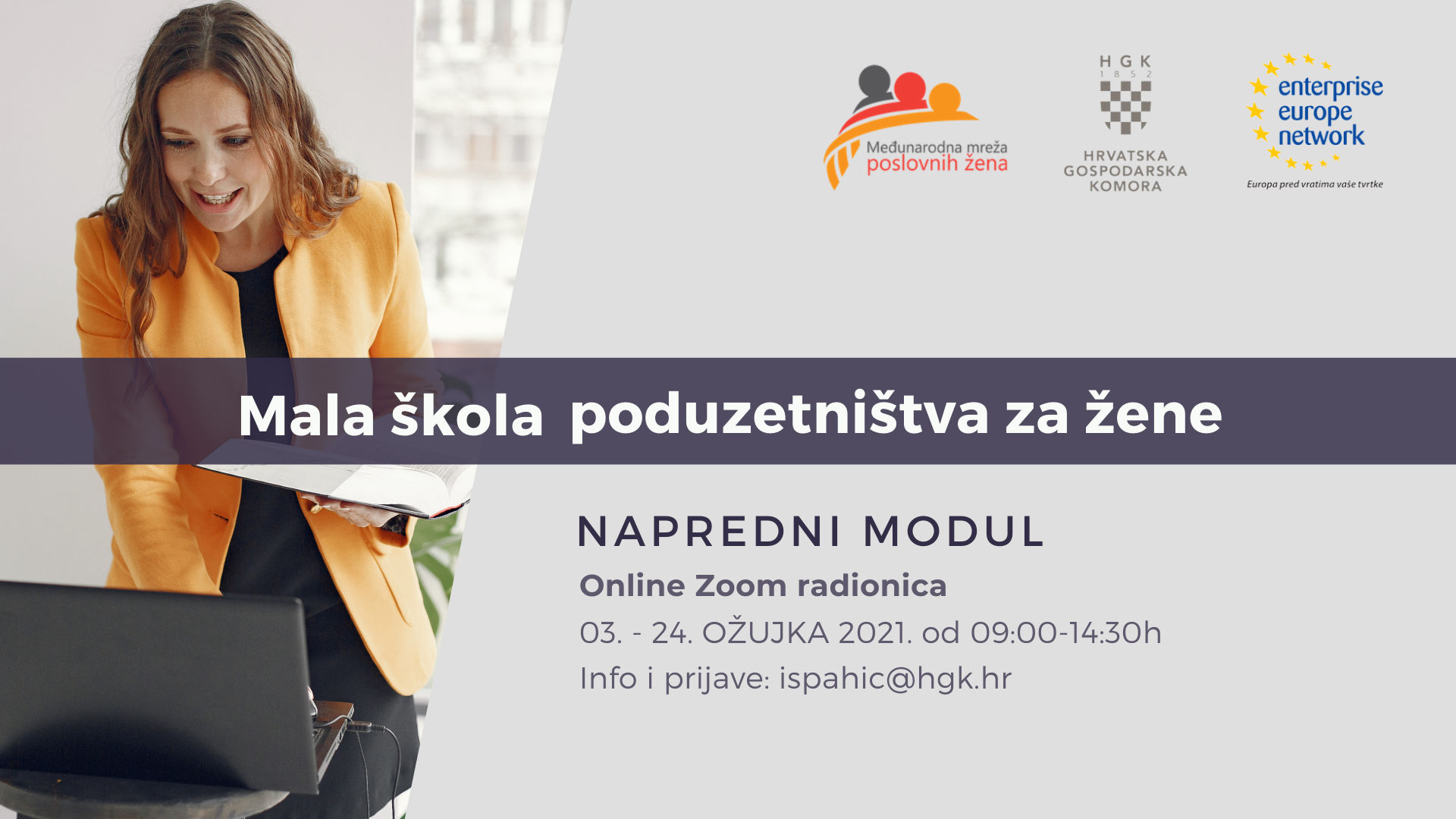 Mala škola poduzetništva za žene - NAPREDNI MODUL